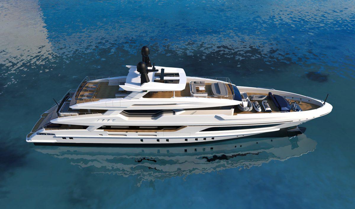 "The new BAGLIETTO ""10233"", motor yacht 48m"