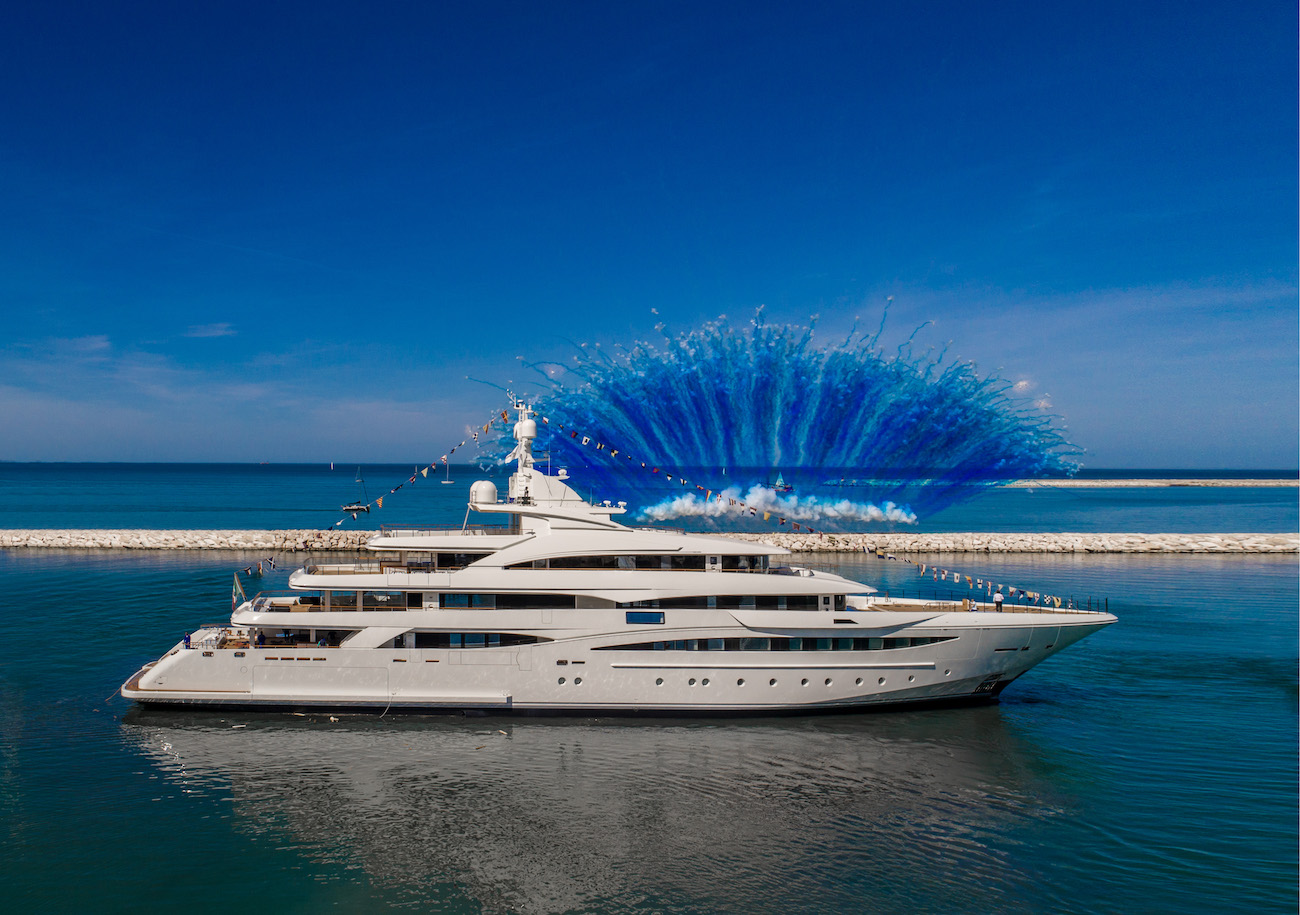 The new CRN M/Y 135 mega-yacht launched